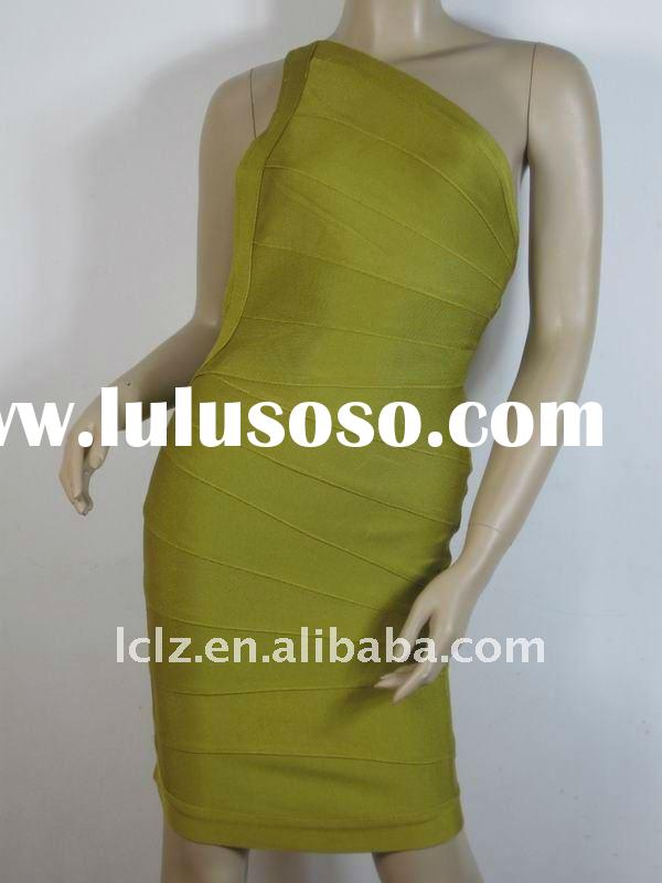 Paypal one shoulder fashion dress women H042 wholesale