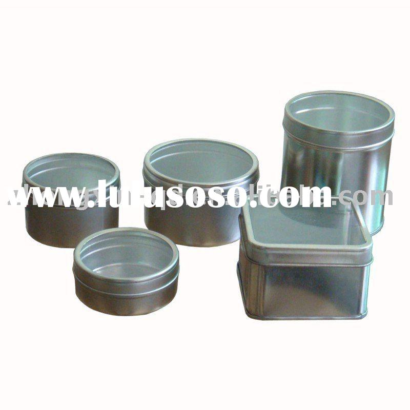 Plain Silver Tin Box with Clear Window