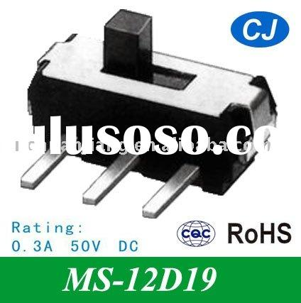 Power Off On Panel PCB Mount MINI Slide Switch of MS-12D19