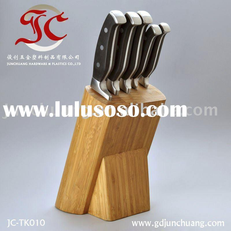 Promotional Bamboo Block Kitchen Knife Set