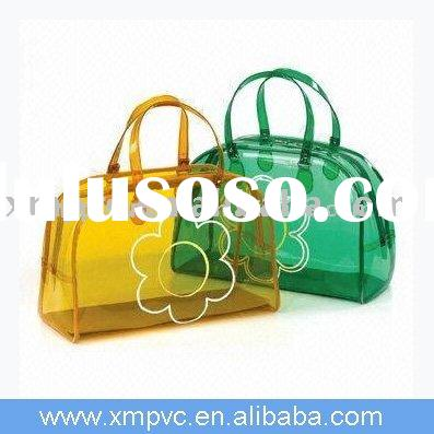 Promotional PVC clear tote bag for shopping D-H061