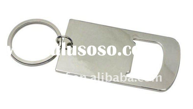 Promotional bottle opener with keychain