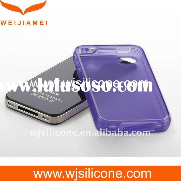 Purple Jelly mobile phone case for iPhone 4