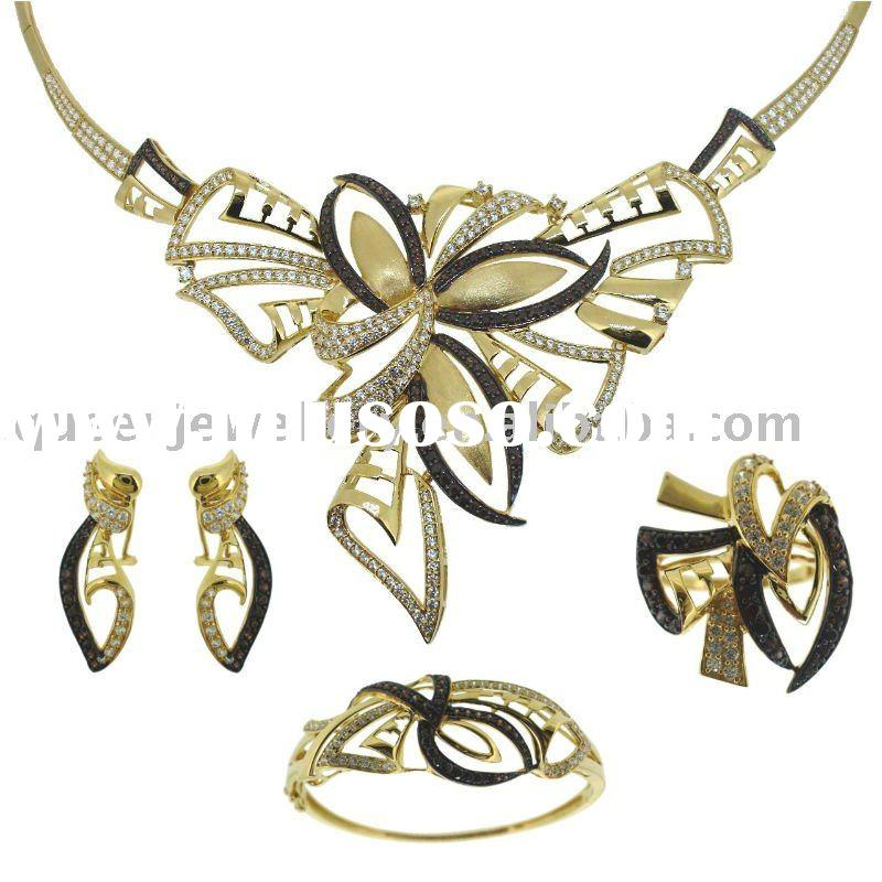 QF(A)004 18k solid gold jewelry set