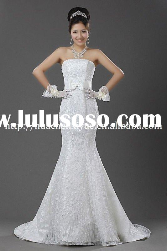 R-101 top quality vintage lace wedding dress beaded belts