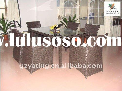 Rattan Restaurant Dining Chair and Table