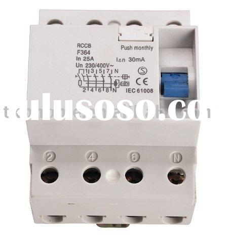 Residual Current Circuit Breaker with Simple and Robust Operating Mechanism CE-certified