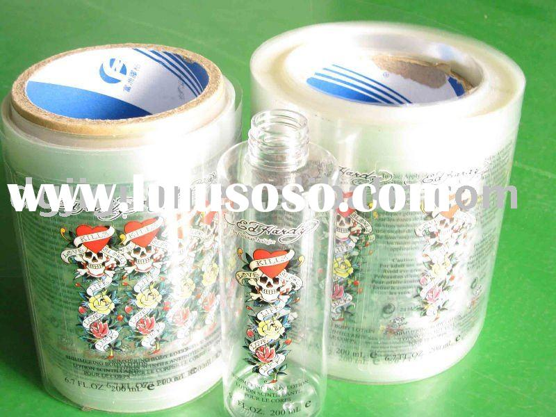 Rolled Transparent Adhesive Label for Perfume Bottle