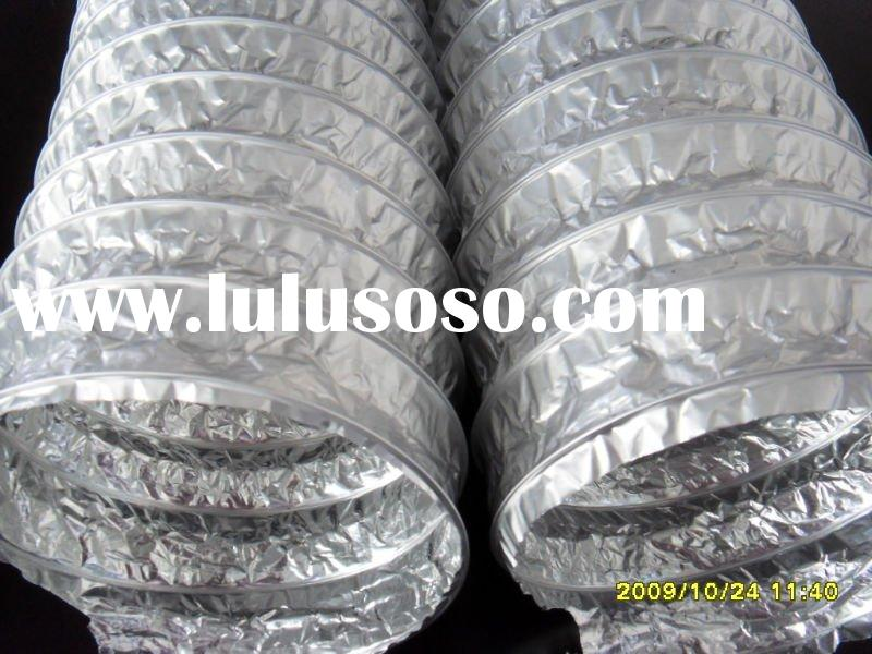 Single layer aluminum flexible duct for central air conditioning systemay