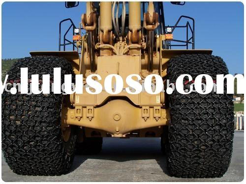 Skid steer loader tire proteciton chain for 21.00-35