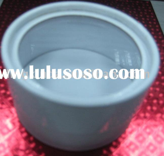 Small round paper box with transparent pvc window and lid