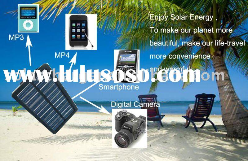 Solar Phone Charger with LED light for Ipod,Iphone etc