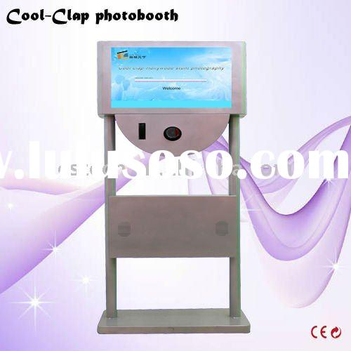 Special-effects touch screen photo kiosk design booth turns a brand new page on your business