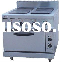 Stainless steel Electric 4 Hot-plate Cooker & Oven