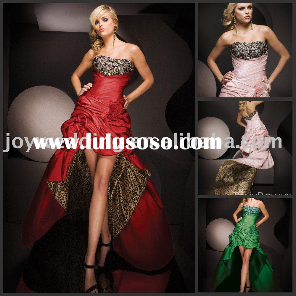 TBE11069 Fashion Tony Bowls LEOPARD short front long back prom dresses 2012