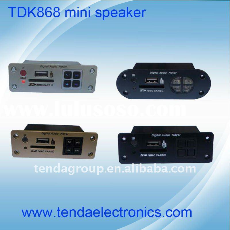 TDK868 USB/SD host mp3 module,embeded mp3 module,audio amplifier,mini speaker module with FM,AUX,amp