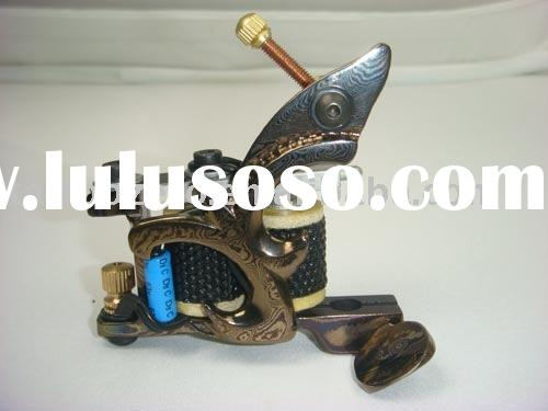 Top Handmade Authentic Damascus Tattoo Machine.tattoo needle.tattoo ink.tatoo supply.tattoo book.tat