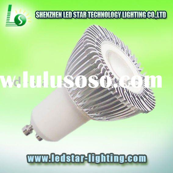 USA 1*3W led spot light GU10 Cabinet and under counter lighting, office work station lighting / Alum