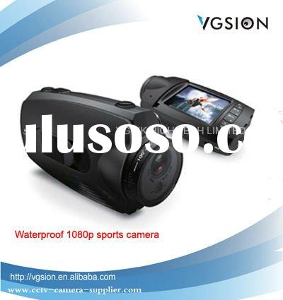 Waterproof HD 1080P Sports Camera / Helmet Camera, 5MP Pixel CMOS Action Camera Motion Detect with U