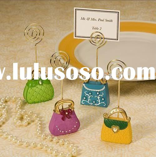 Wedding Favors Super Chic Purse-Inspired Place Card Holders (Wedding Place Card Holder)