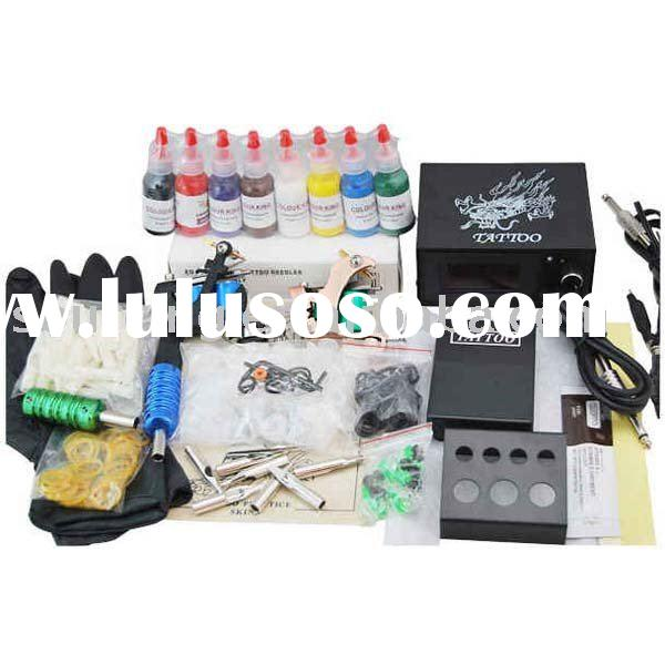 WholesaleTattoo Kit 2 Guns Starbrite Tattoo Ink Kit 8 Color Tattoo kits and Supplies