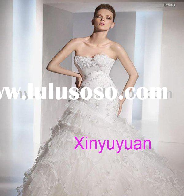 Wholesale hot sell strapless bridal wedding dress custom made wedding dress ps10