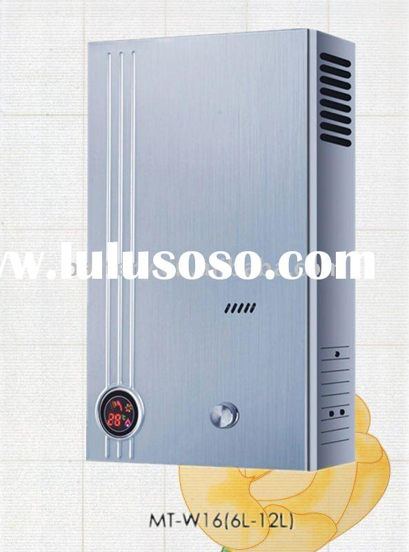 With LCD Screen: MT-W16 Gas Geyser/Instant Gas Water Heater(6L-12L)