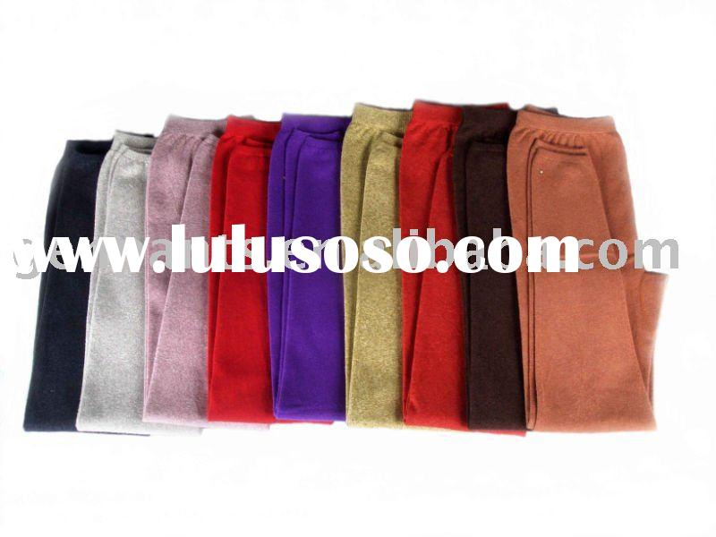 Woman's medium thick non-seam wool legging