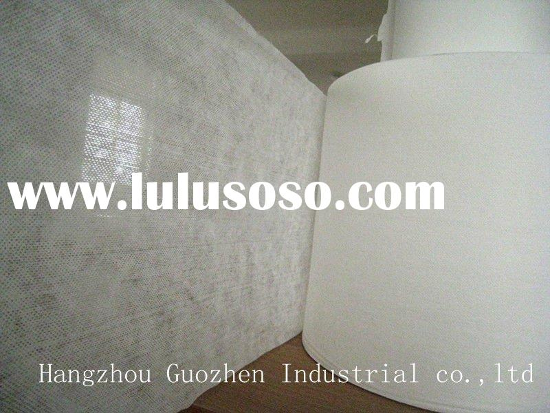 Wood pulp and polyester laminated Spunlace Nonwoven Fabric (at lowest price)