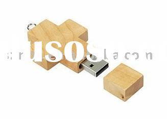 Wooden Latin Cross usb drives as promotional gifts