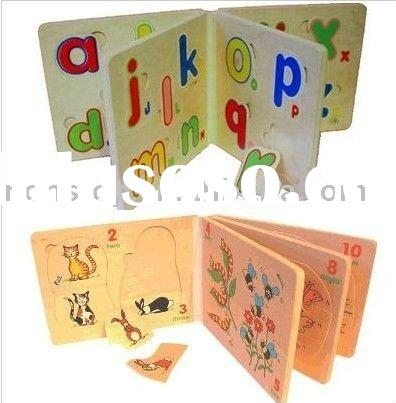 Wooden Puzzle Book,Wooden Educational Toys,wood books,wooden puzzle,baby wooden puzzle books