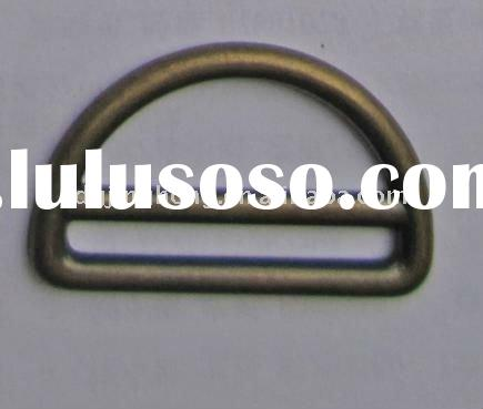 Zinc alloy D buckle for bag (inner size:38mm)