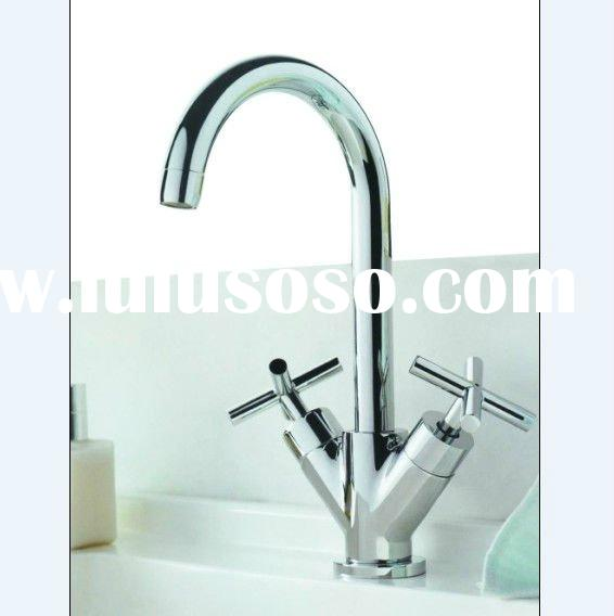 (C0016-C3) double handle chrome finished brass body good quality Fashion Faucet Tap for Bathroom