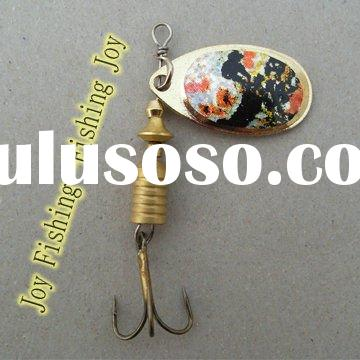 attractive salmon metal blade spinner fishing lure