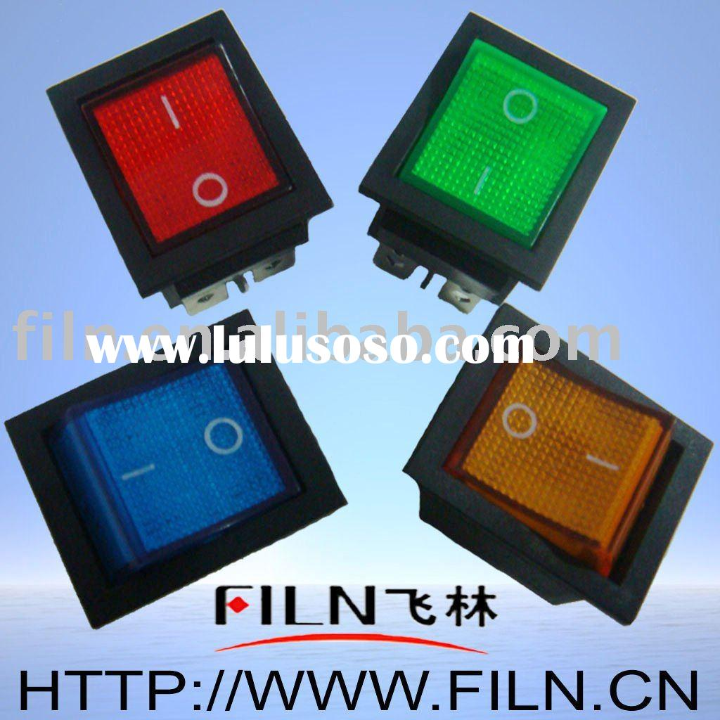 blue lighted rocker switch