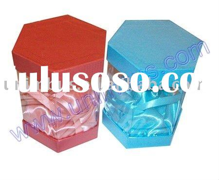 cardboard packaging with clear pvc window for cosmetic