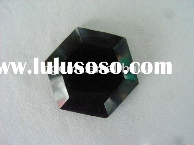 charming black hexagon shape cubic zirconia stone in low price