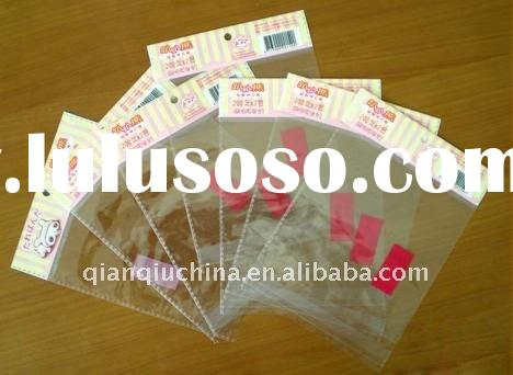 clear self adhesive Bopp bag for bread