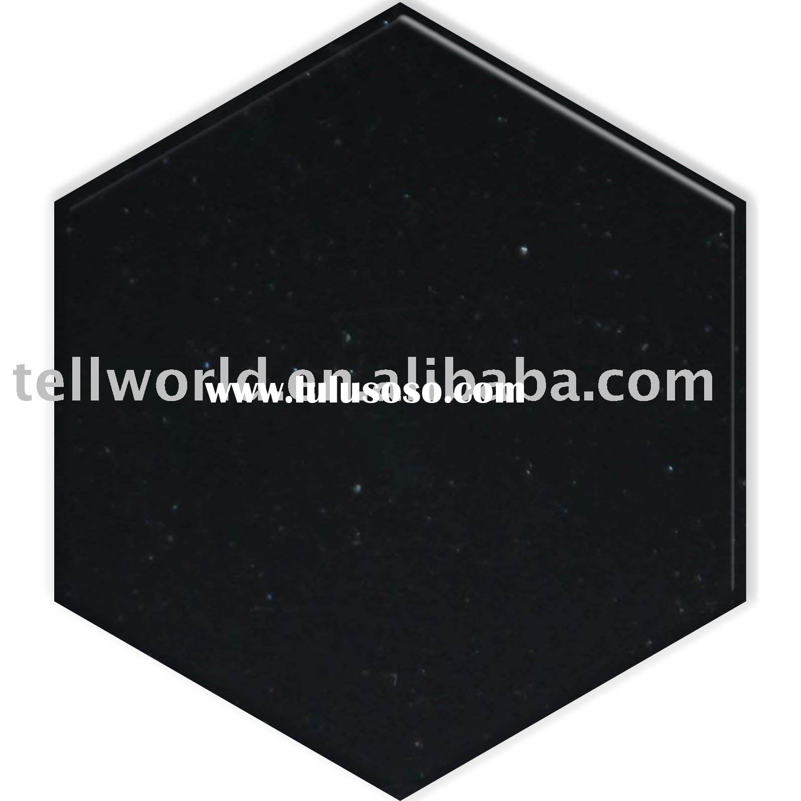 corian black artificial stone solid surface for all kinds of countertop