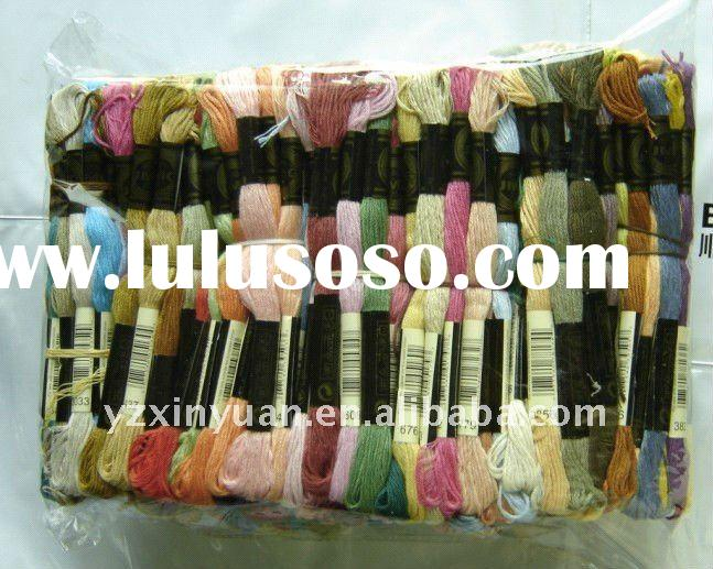 cotton thread.friendship bracelet.cross stitch floss.skeins.100% cotton threads.knitting yarn,