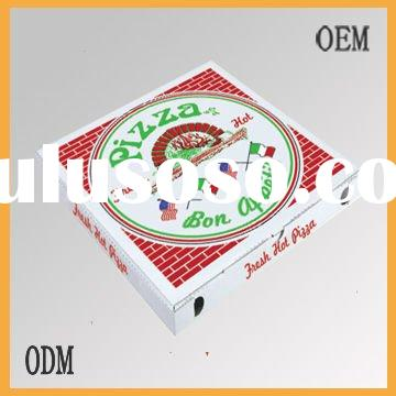 custom printed corrugated paper pizza box with competitive price from factory