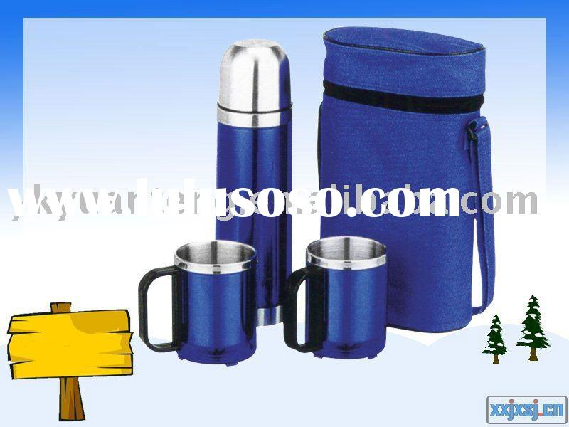 double wall stainless steel insulation flask gift set