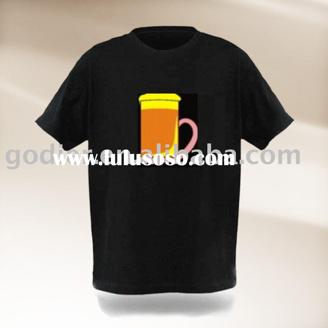 el flashing t shirt,factory direct supply,custom logo design,wholesale price,accept paypal