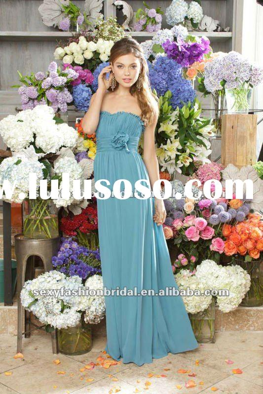 elegant sweetheart ruffle high waist empire flowers belt column evening dresses for pregnant women
