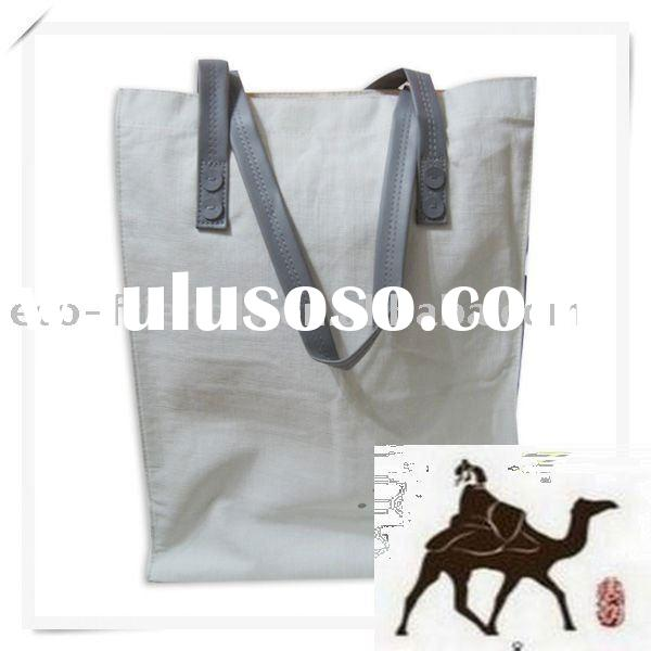 fabric bamboo bag/ natural bamboo fabric/fabric foe shopping bag