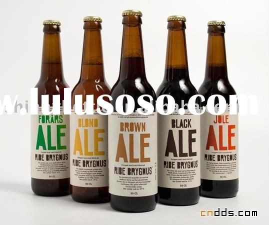 fancy glass beer bottles with metal crown cap