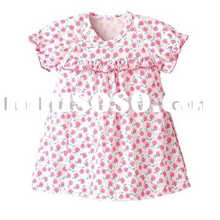 fashion cotton lovely print baby girl dress