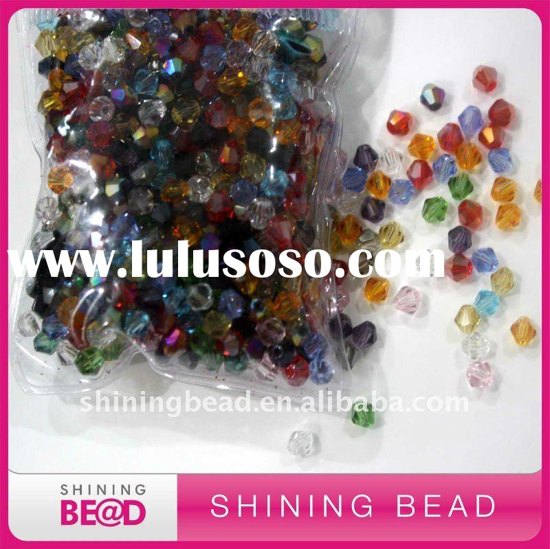 fashion faceted jewelry glass beads