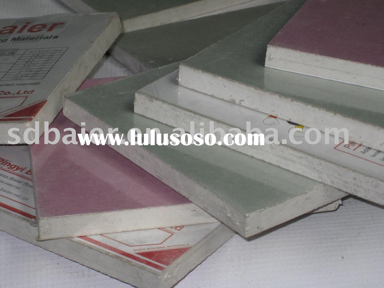 Water Resistant Drywall : Glass mat water resistant gypsum tile backing board