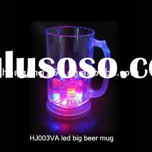 flashing beer mug,led beer mug,flashing glass,light cup